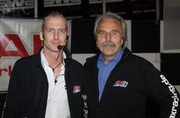 Rennleiter Werner Aichinger (rechts) mit Stellvertreter David Hofmann von SAX Racing (Foto: Dirk Fulko)